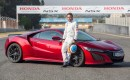 Fernando Alonso and the 2017 Acura NSX