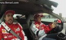 Fernando Alonso looks nervous as Felipe Massa laps the Circuit de Catalunya