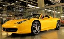 Fernando Alonso tests the Ferrari 458 Spider
