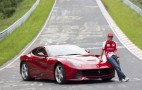 Fernando Alonso Gives Interview While Driving A Ferrari F12 On The Nürburgring