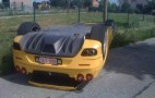 Ferrari F430 Spyder Crashes, Ends Upside Down