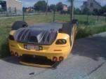 Ferrari F430 Spyder crashes in Belgium