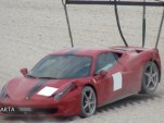 Ferrari 458 after crash at Ferrari Club Italia track day