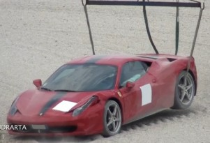 Ferrari 458 after crash at Ferrari Club Italia track day