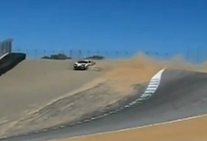 Ferrari 458 Italia crashes on Laguna Seca's infamous corkscrew