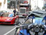 Ferrari 458 Italia on the set of Transformers 3