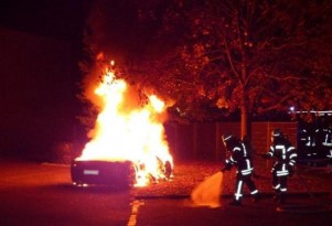 Ferrari 458 Italia set on fire in insurance fraud attempt - Image via Augsburg Police