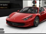 Ferrari 458 Italia Spider configurator