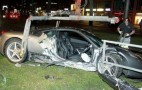 Ferrari 458 Italia Ends Up On Tram Tracks After Crash