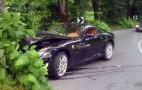 Ferrari 599 GTB Fiorano Runs Into A Tree