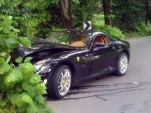 Ferrari 599 GTB Fiorano crash in Slovenia
