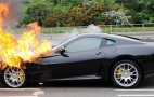 Ferrari 599 GTB goes up in flames on delivery drive