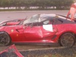 Ferrari 599 GTO crashed in the Czech Republic. Image via iDNES.cz