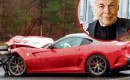 Ferrari 599 GTO crashes on German autobahn