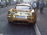 Gold Bugatti