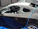 Ferrari 612 Scaglietti attacked by axe-wielding man - Image courtesy Daily Record