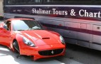 Video: What A Ferrari California Looks Like After A Bus Accident
