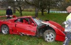 Ferrari F40 Suffers Severe Crash In Germany