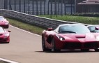 Four Ferrari Flagships Flat Out At Fiorano: Video
