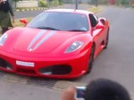 Ferrari F430 driven by a nine-year-old in India