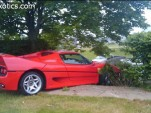 Ferrari F50 crashed by FBI agent in 2009--Image via WreckedExotics