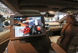 Ferrari FF equipped with Apple iPads