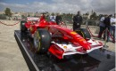 Ferrari Formula One car touches down in Jerusalem, Israel