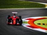Ferrari in the lead at the 2015 Formula One Italian Grand Prix