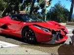 Ferrari LaFerrari crash In Monaco (Image via @AutoBant)