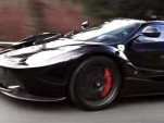 Ferrari LaFerrari driving in Prague