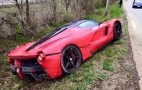 Ferrari LaFerrari Crashes Into Ditch