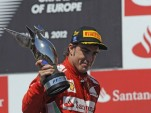 Ferrari's Fernando Alonso the winner of the 2012 Formula 1 European Grand Prix