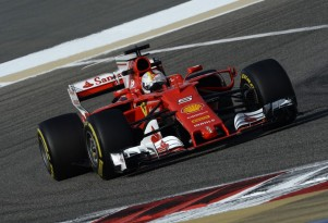 Ferrari's Sebastian Vettel at the 2017 Formula One Bahrain Grand Prix