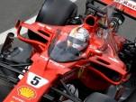 Ferrari's Sebastian Vettel tests Formula One's proposed Shield cockpit protection system