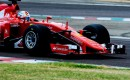 Ferrari's Sebastian Vettel tests Pirelli's wide tires for 2017 Formula One World Championship