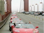 Ferraris on Golden Gate Bridge