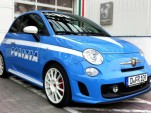 Fiat 500 Abarth in police livery