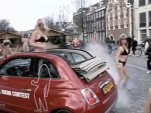Fiat's 'Cool Bikini' flash mob promotion for the 500C