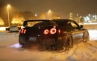 Fire Breathing Nissan GT-R Plays In The Snow: Video