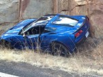 First 2014 Chevrolet Corvette Stingray crashed. Image via Digital Corvettes forums.