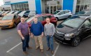 First 2017 Chevrolet Bolt EV buyers, Fremont, California: Bobby Edmonds, Bill Mattos, Steve Henry