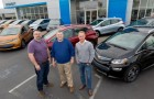 First 2017 Chevrolet Bolt EV buyers, Fremont, California: Bobby Edmonds, Bill Mattos, Steve Henry