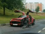First crashed 2010 Mercedes-Benz SLS AMG