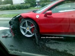 First Ferrari 458 Italia Wrecked In Poland (via Wrecked Exotics)