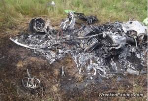 First known Lamborghini Huracán crash (Image via Wrecked Exotics)