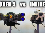 Flat-4 engine and inline-4 engine comparison