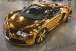Flo Rida's gold chrome Bugatti Veyron - image: Wrapped World