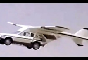 Flying car in BMW's Wherever You Want To Go trailer