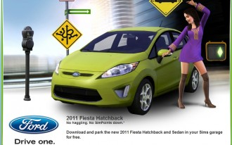 The 2011 Ford Fiesta Slides Into Sims 3