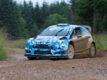 Ford Fiesta RS WRC car testing